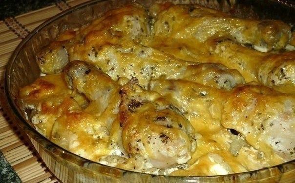 Картофель с куриными ножками