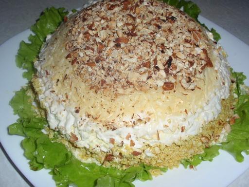 Салат «Нарядный» с маслинами: рецепт с фото.