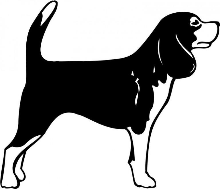 Трафареты на Новый год Собаки 2018 для вырезания на окно: распечатать
