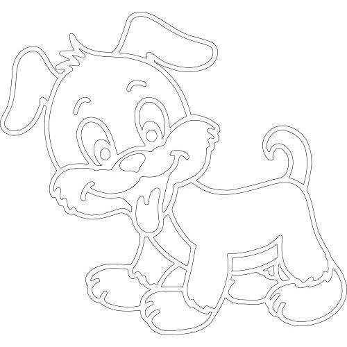 Картинки: Трафареты на Новый год Собаки 2018 для вырезания на окно: распечатать