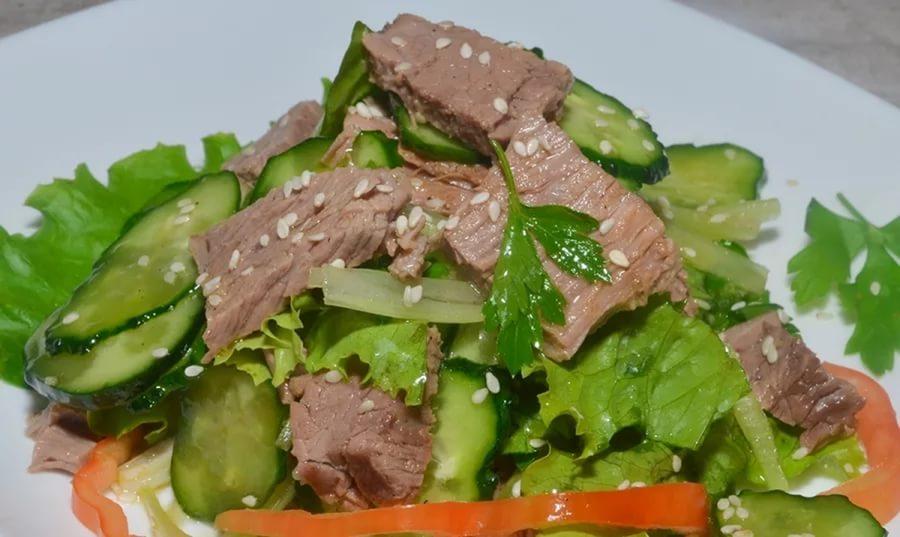 Рецепт салата из мяса пошаговый рецепт с