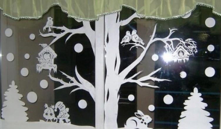 Картинки: Трафареты на Новый год 2018 для вырезания на окно